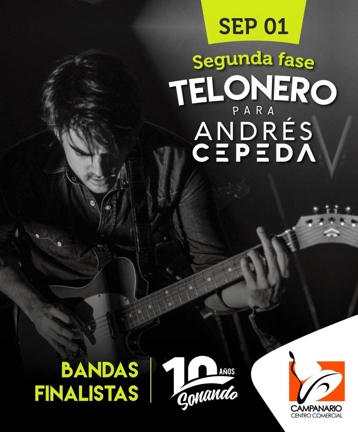Segunda fase de la búsqueda del telonero para el concierto de Andrés Cepeda