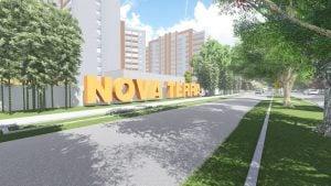 Letrero del proyecto NOVA TERRA