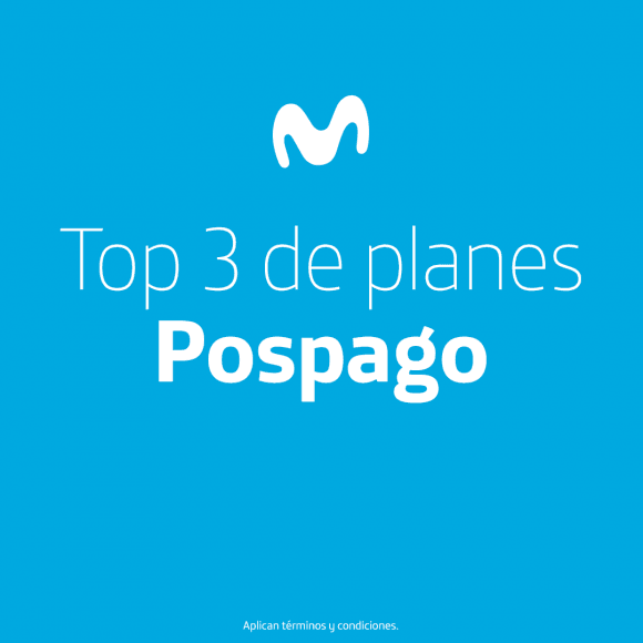 Top 3 de planes pospago – Movistar