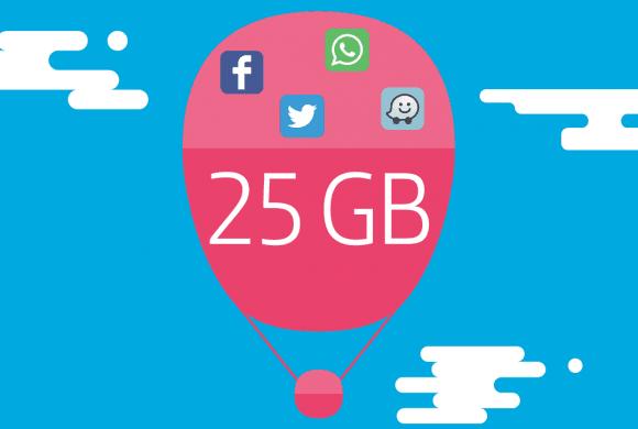 Top 3 de planes pospago 25GB