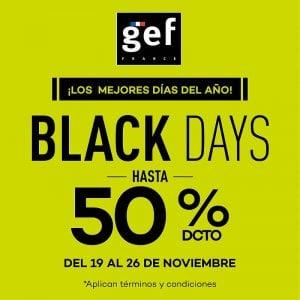 Hasta el 50% de descuento en GEF
