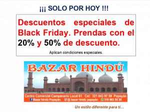 Black Friday en Bazar Hindu