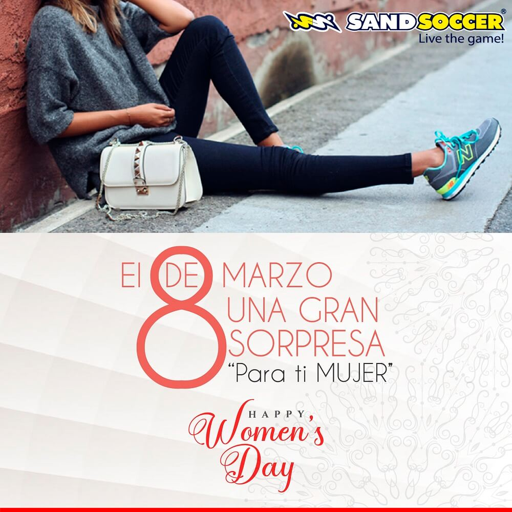 Happy woman's day – Sand Soccer