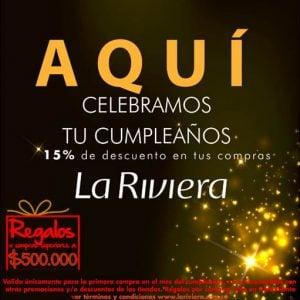 15% de descuento en tu cumpleaños – La Riviera