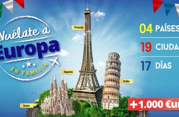 Vuélate a Europa en Familia - 4 países, 19 ciudades, 17 días