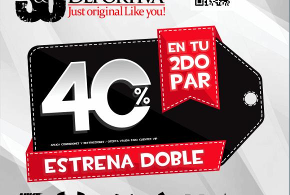 Estrena doble – SC Tienda Deportiva