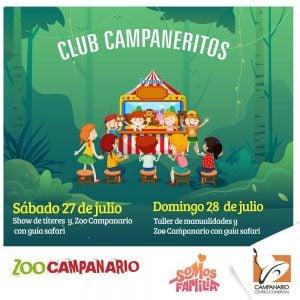 Taller de actividades – Zoo Campanario