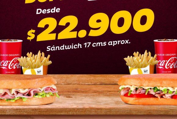 Dupla combo en Sandwich Qbano