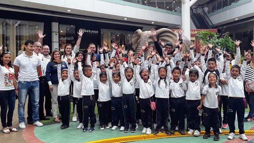 niños y niñas de cajibío visitaron Campanario