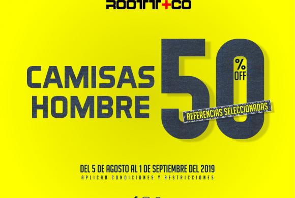 ROOTT+CO con 50% de Descuento en Referencias Seleccionadas hasta el  01 de Septiembre
