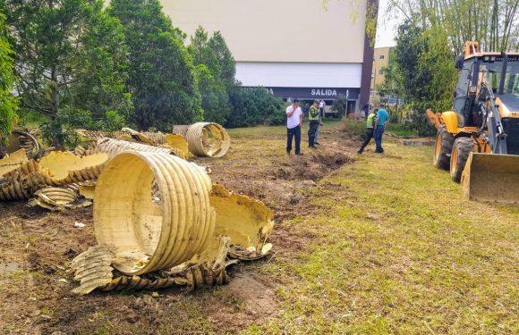 Cierre de colector ubicado en Comfacauca, afecta evacuación de aguas lluvias de Campanario y sectores aledaños