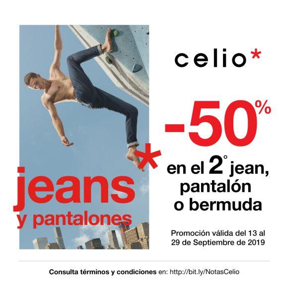 En Celio recibe el 50% de descuento en el 2ª jean