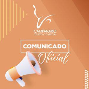 Comunicado No. 13: HORARIOS DE ATENCIÓN PARA EL FIN DE SEMANA EN CAMPANARIO