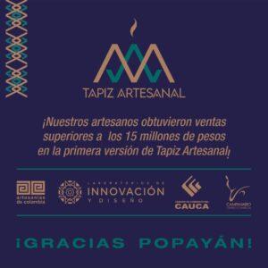 Con Tapiz Artesanal, Campanario promueve la reactivación económica para los artesanos caucanos
