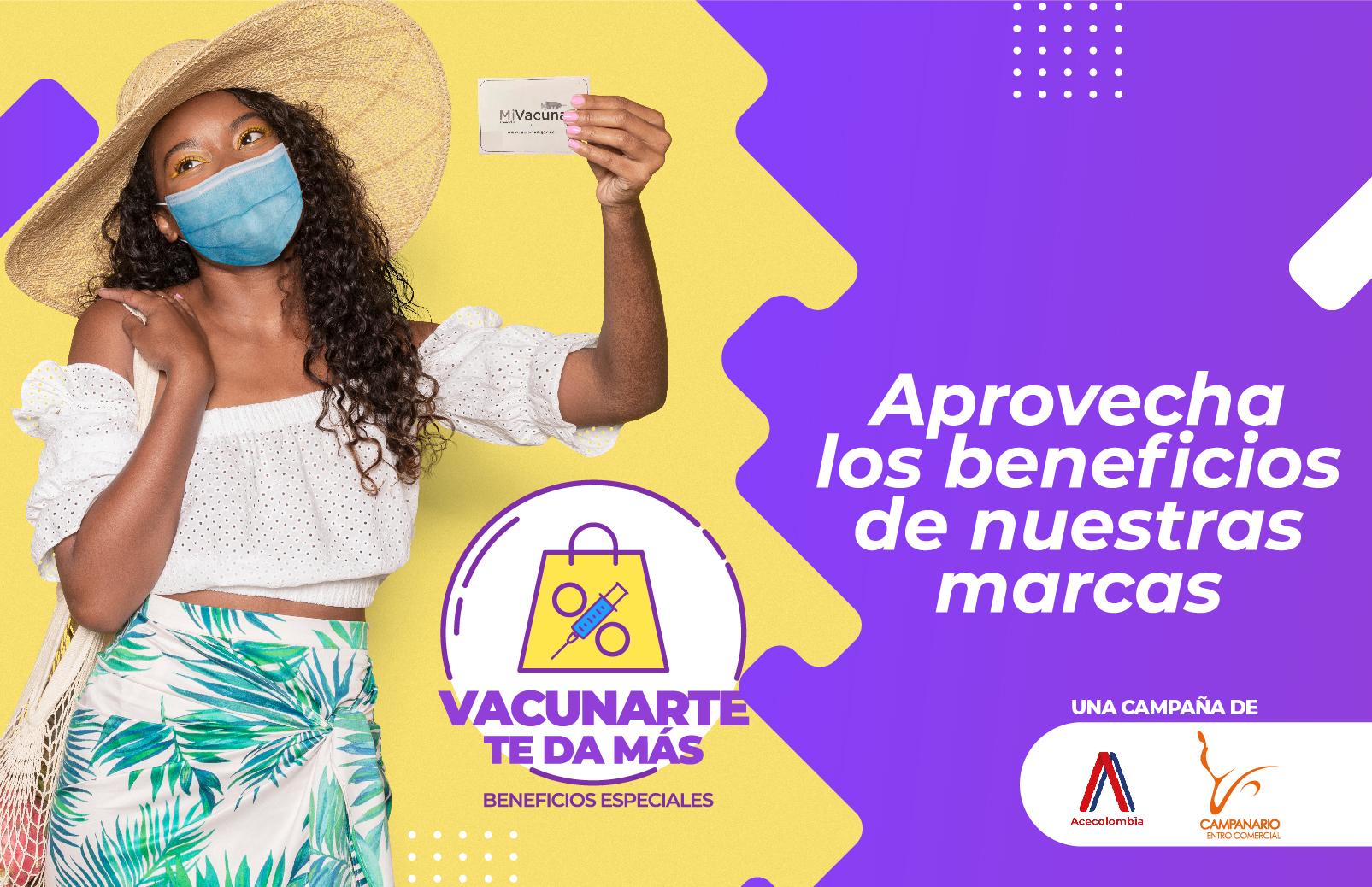 ¡Descuentos y beneficios por vacunarte en Campanario Centro Comercial!